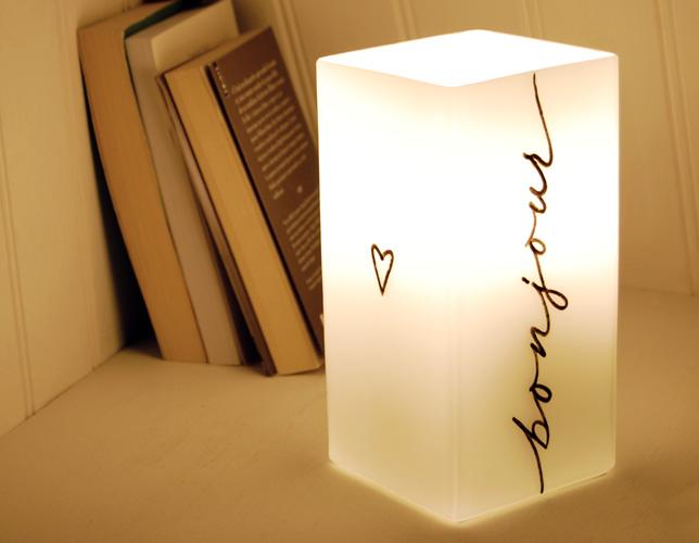Bonne nuit bonjour lampes de chevet letters love life for Lampe de chevet anglais