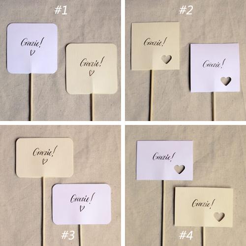 Molto Cartellini per bomboniere | Letters Love Life UN31