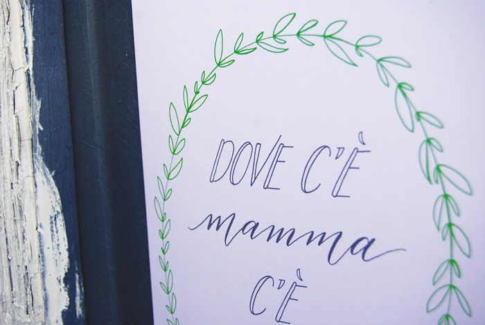 Favoloso Poster «Mamma» | Letters Love Life LT62