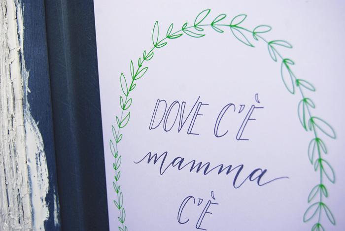 Estremamente Poster «Mamma» | Letters Love Life SD14