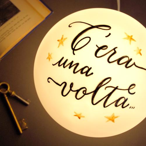 Tema Matrimonio C Era Una Volta : Lampada «c era una volta letters love life